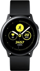 Samsung - Galaxy Watch Active Smartwatch 40mm Aluminium - Black, Wearable Technology