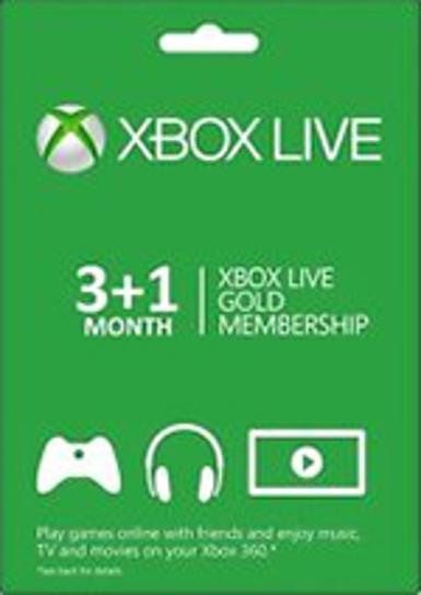 Xbox Live Gold 3+1 month