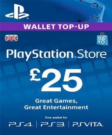 PlayStation Network Card (PSN) 25£ (UK), [product_type]