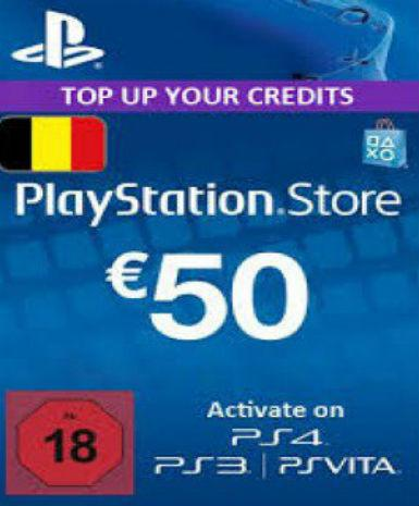 Playstation Network Card (PSN) 50 EUR (Belgium), [product_type]