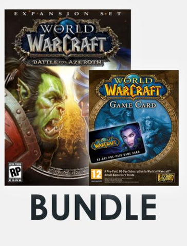 World of Warcraft Bundle (incl. Battle for Azeroth + World of Warcraft 60-day time card), qbo-one-digital-games