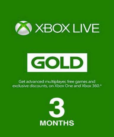 Xbox Live Gold 3 month (EU), [product_type]
