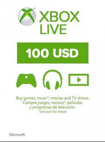 Xbox Live 100 USD, [product_type]