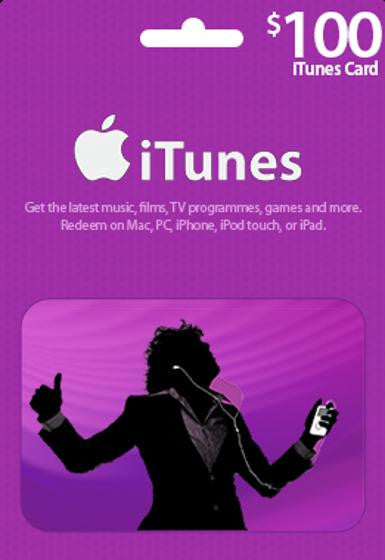iTunes $100 Gift Card