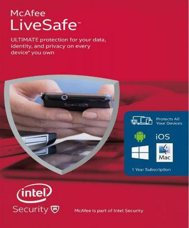 McAfee Livesafe 2016 1 Year (Unlimited Edition)