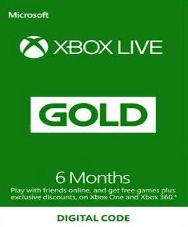 Xbox Live Gold 6 month, [product_type]