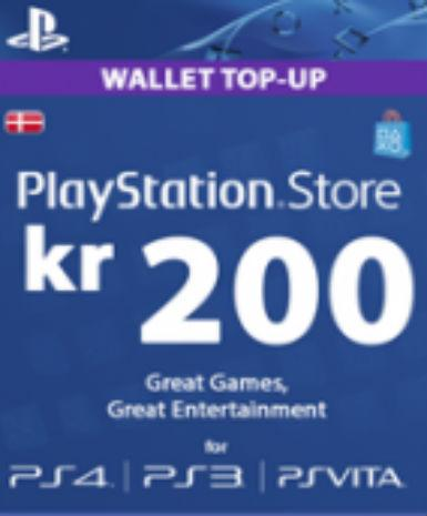 Playstation Network Card (PSN) 200 DKK (Denmark), [product_type]