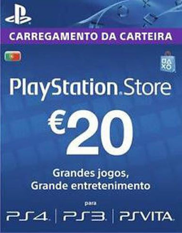 Playstation Network Card (PSN) 20 EUR (Portugal), qbo-one-digital-games