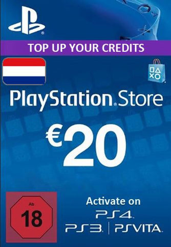 Playstation Network Card (PSN) 20 EUR (Netherlands), PSN