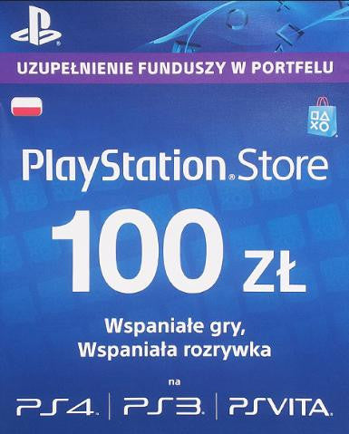 Playstation Network Card (PSN) 100 PLN, PSN