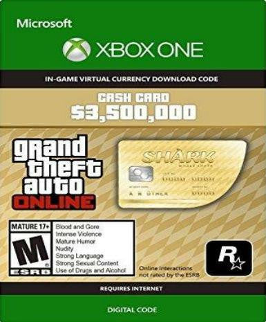 Grand Theft Auto V GTA: Whale Shark Cash Card - Xbox One