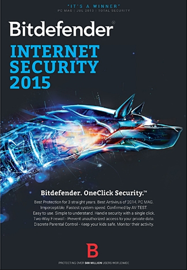 Bitdefender Internet Security 2015 1 PC 1 Year