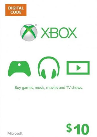 Xbox Live 10 USD, [product_type]