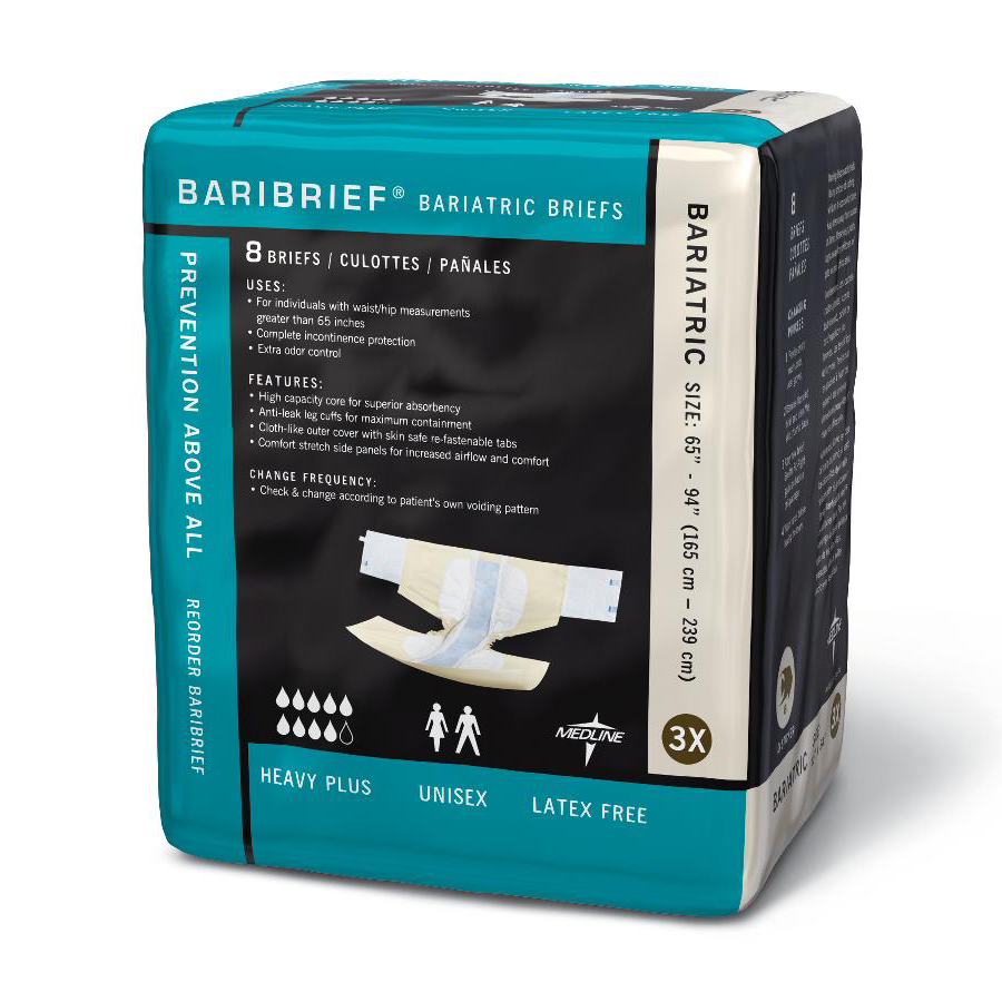 Baribrief Bariatric Briefs - Adult Incontinence Briefs