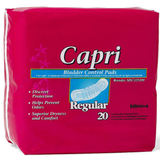 Capri Bladder Control Pads - Individually Wrapped