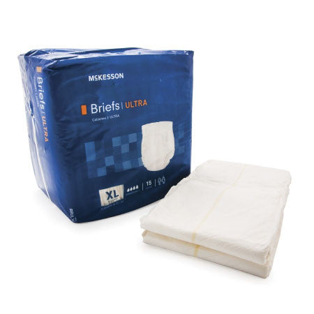 Adult Incontinence Briefs by McKesson - Ultra Heavy Absorbency
