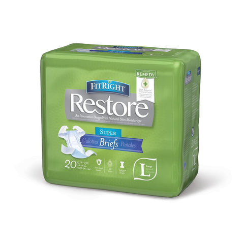 FitRight Restore Super Incontinence Briefs with Skin Protectant