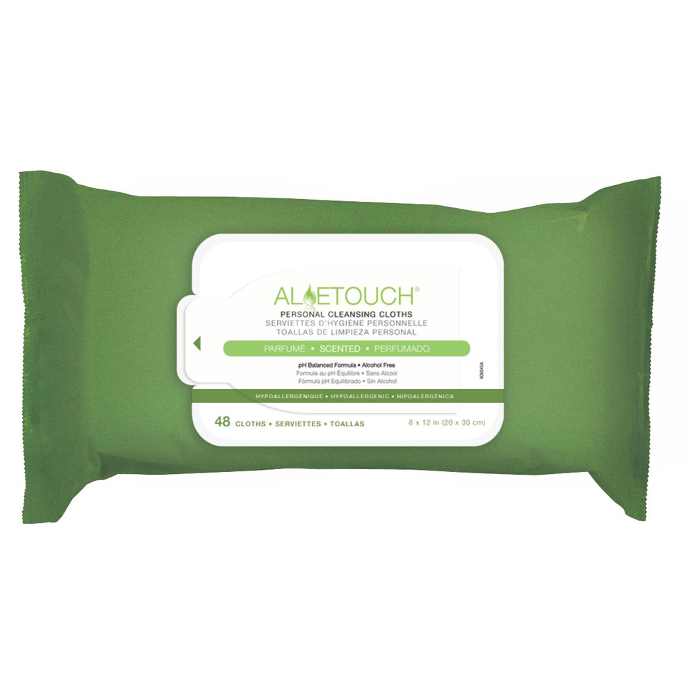 Aloetouch Personal Cleansing Wet Wipes for Incontinence