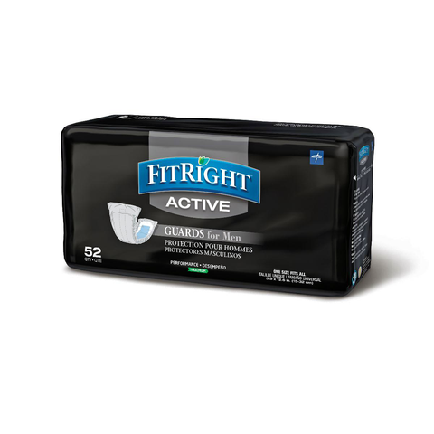 FitRight Active Male Guards - Incontinence Pads for Men