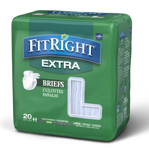 FitRight Extra Briefs - Adult Incontinence Briefs in Multiple Sizes