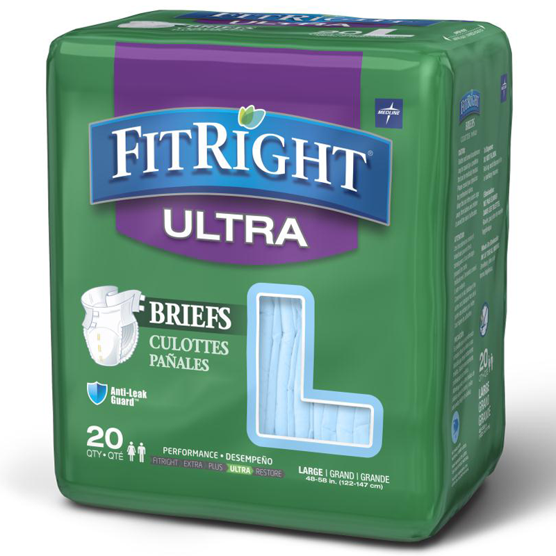 FitRight Ultra Disposable Briefs for Heavy Incontinence