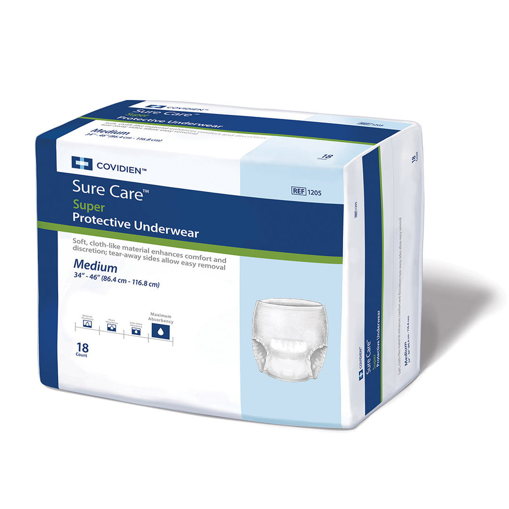 Covidien / Kendall Surecare Fitted Incontinence Briefs