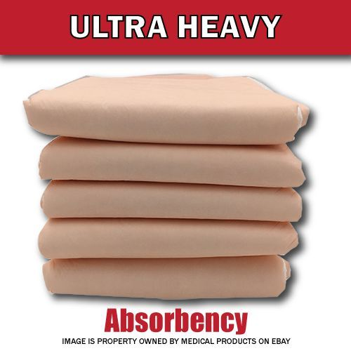 200 NEW HEAVY BED PADS Adult Urinary Incontinence Disposable Pee Underpads 30x36