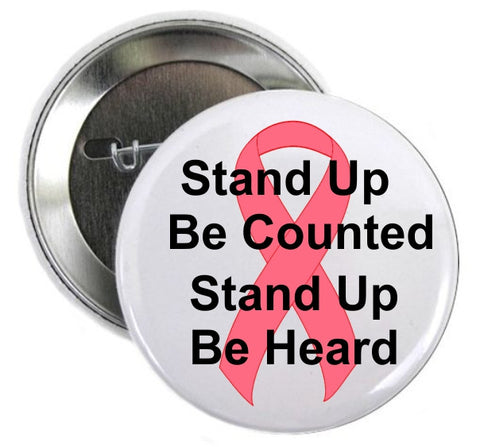 Aids Awareness Stand Up Be Counted Button