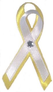 Amber Alert Bladder Cancer Yellow Ribbon Pin