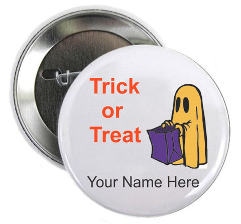 Halloween Button Trick or Treating Single Ghost - Awareness Promotionals