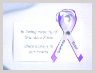 Funeral Pin Grandma Susie  Awareness Ribbon Pin Example - Awareness Promotionals