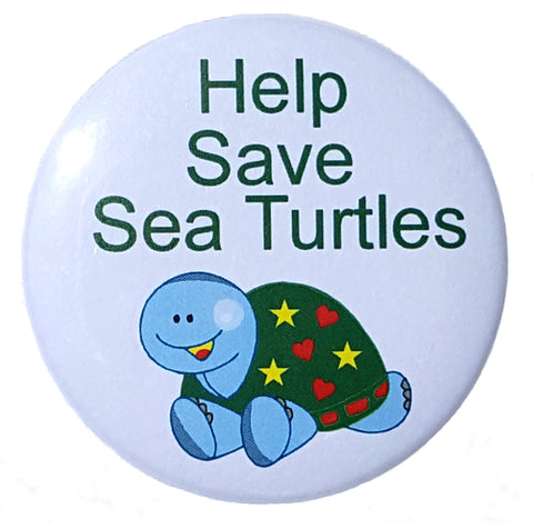 Help Save Sea Turtles Button - Awareness Promotionals