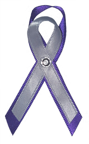 Epilepsy-Homelessness-Alzheimer's-Lupus-Pancreatic Cancer Awareness Ribbon Pin