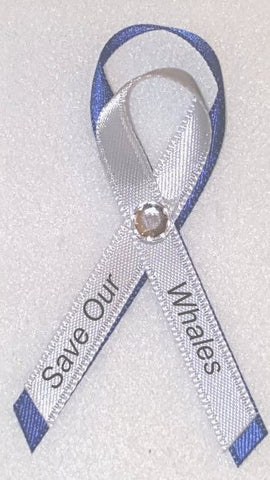 Save Our Whales Awareness Ribbon Pin