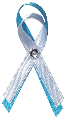 Child Abuse-Education-Hurricane Teal Blue Awareness Ribbon Pin