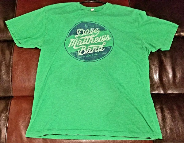 Dave Matthews Band Logo Green T-Shirt Men's X Large