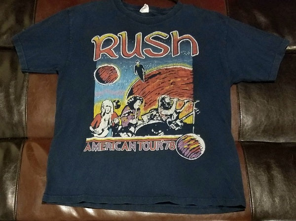Rush American Tour '78 Retro T-Shirt Men's Large