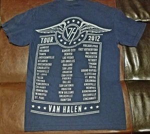 Van Halen A Different Kind of Truth Tour 2012 T-Shirt Men's Small
