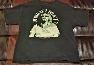 THE BIG LEBOWSKI MIND IF I DO A J? THE DUDE T-Shirt Men's LARGE LG - Jeff Bridges