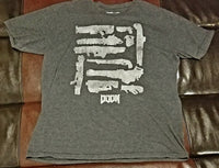 DOOM WEAPONS CHARCOAL BETHESDA T-Shirt Men's LARGE LG