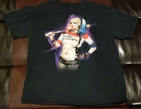 HARLEY QUINN DADDY'S LIL MONSTER SUICIDE SQUAD T-Shirt Men's LARGE LG