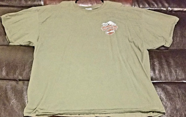 HARLEY-DAVIDSON CHILKOOT PASS SKAGWAY ALASKA T-Shirt Men's XXX-LARGE 3XLG'