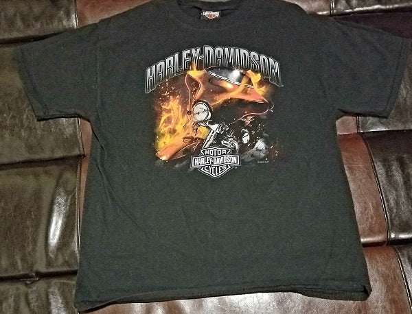 HARLEY-DAVIDSON LONGLEY HARD CORE PETERBOROUGH, ONTARIO CANADA T-Shirt Men's LARGE LG
