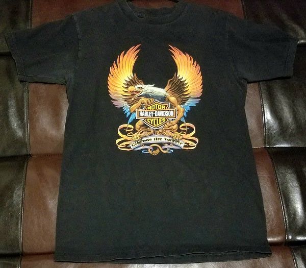 VINTAGE HARLEY-DAVIDSON LEGENDS ARE FOREVER EAGLE HONOLULU, HAWAII T-Shirt Men's LARGE LG'