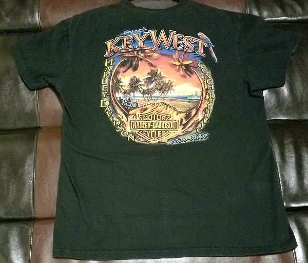 HARLEY-DAVIDSON KEY WEST FLORIDA PETERSON'S CONCH REPUBLIC T-Shirt Men's LARGE LG