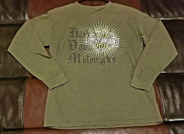 HARLEY-DAVIDSON MOTORCYCLES LONG SLEEVE PLAYA DEL CARMEN MEXICO T-Shirt Men's MEDIUM M