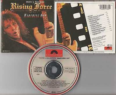 Yngwie Malmsteen CD, Marching Out, RARE,W German Import, Dio,Orig 1985 Polydor