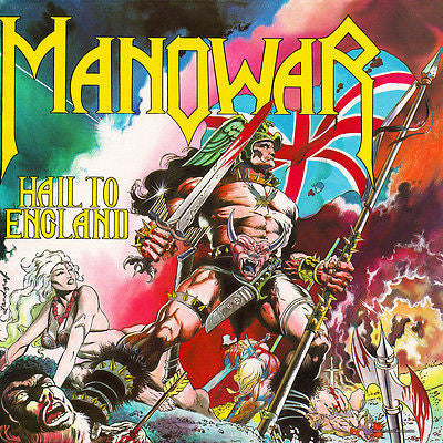 Manowar CD, Hail to England, Original 1984 Manowar Records