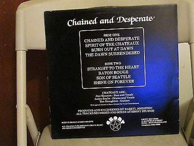 Chateaux LP, Chained and Desperate, RARE,UK Import, Grim Reaper, Orig 1983 Ebony