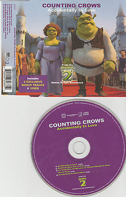 Counting Crows CD, Accidentally In Love, RARE Maxi-Single, EU Import, ECD